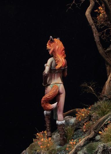 Nyara The Fox 54mm Figur Aradia Miniatures - Fantasy-Figuren-Online